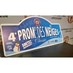 Plaque Prom's des neiges