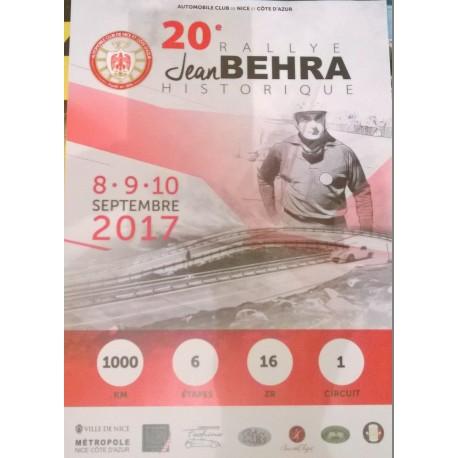 Affiche Rallye 20eme Jean Behra Historique 2017